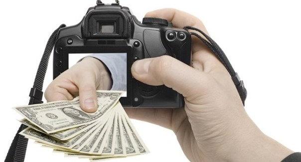 Фотоаппарат с деньгами